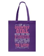 COUNTRY GIRL Tote Bag thumbnail