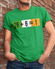 26 and 6 equal 1 Classic T-Shirt apparel-classic-tshirt-lifestyle-26