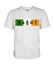 26 and 6 equal 1 V-Neck T-Shirt thumbnail