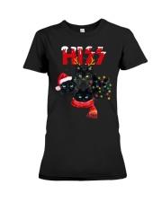 BLACK CAT CHRISTMAS Premium Fit Ladies Tee thumbnail