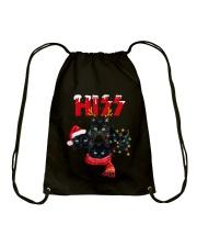 BLACK CAT CHRISTMAS Drawstring Bag thumbnail