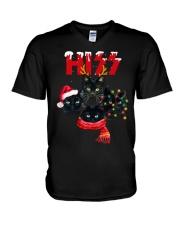 BLACK CAT CHRISTMAS V-Neck T-Shirt thumbnail