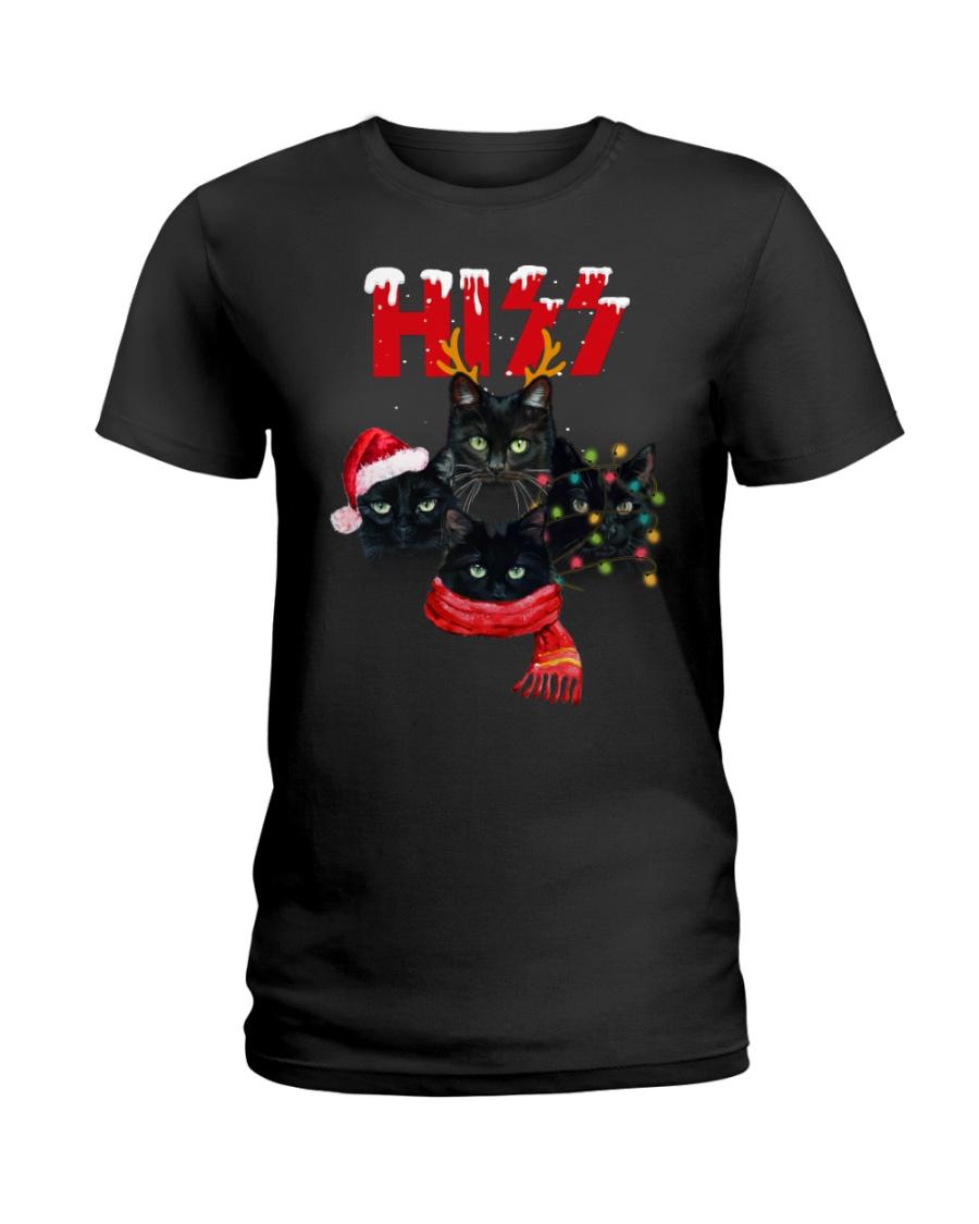 BLACK CAT CHRISTMAS Ladies T-Shirt