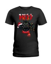BLACK CAT CHRISTMAS Ladies T-Shirt front