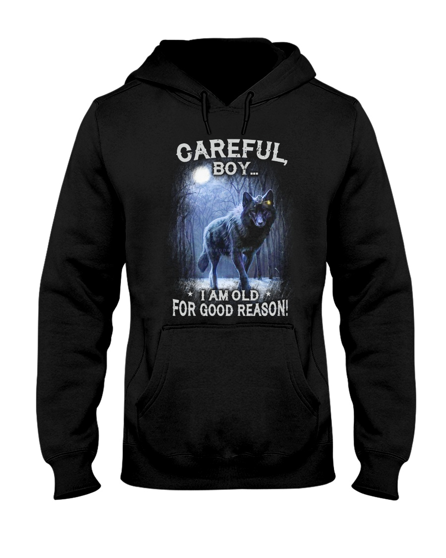 CAREFUL BOY Hooded Sweatshirt