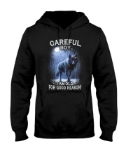 CAREFUL BOY Hooded Sweatshirt front