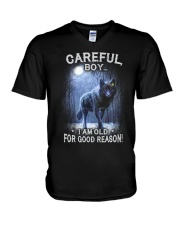 CAREFUL BOY V-Neck T-Shirt thumbnail