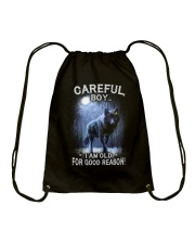 CAREFUL BOY Drawstring Bag thumbnail