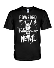 POWERED BY FAIRY DUST AND METAL V-Neck T-Shirt thumbnail