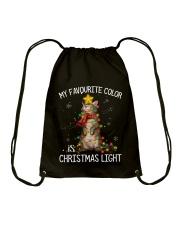 CAT CHRISTMAS Drawstring Bag thumbnail