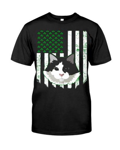 saint patrick t shirt irish flag shamrock ragdoll