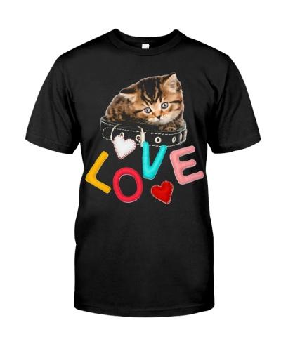 cute cat kitten and love heart powers t shirt d5g