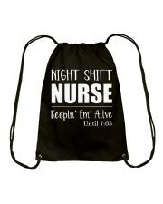 Night shift Nurse t-shirt Drawstring Bag thumbnail