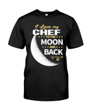CHEF LOVE TO THE MOON BACK Classic T-Shirt thumbnail