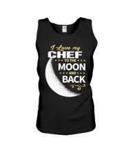 CHEF LOVE TO THE MOON BACK Unisex Tank thumbnail