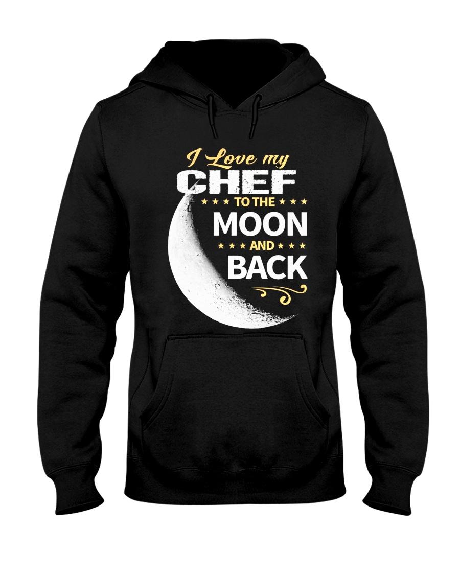 CHEF LOVE TO THE MOON BACK Hooded Sweatshirt