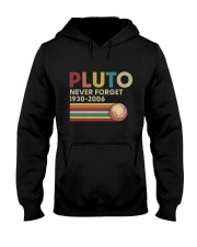 Pluto Never Forget Funny Science Geek T-shirt Hooded Sweatshirt thumbnail
