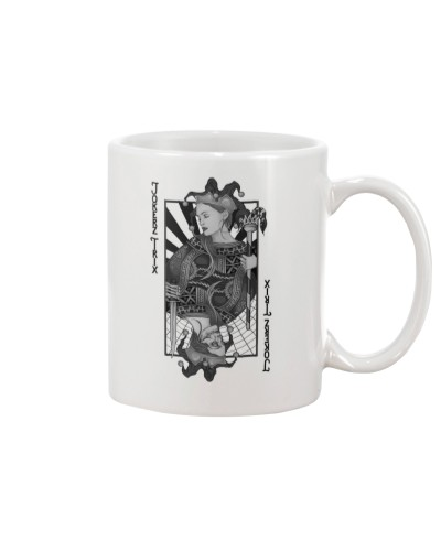 Jokerz Trix Card Black and White Mug