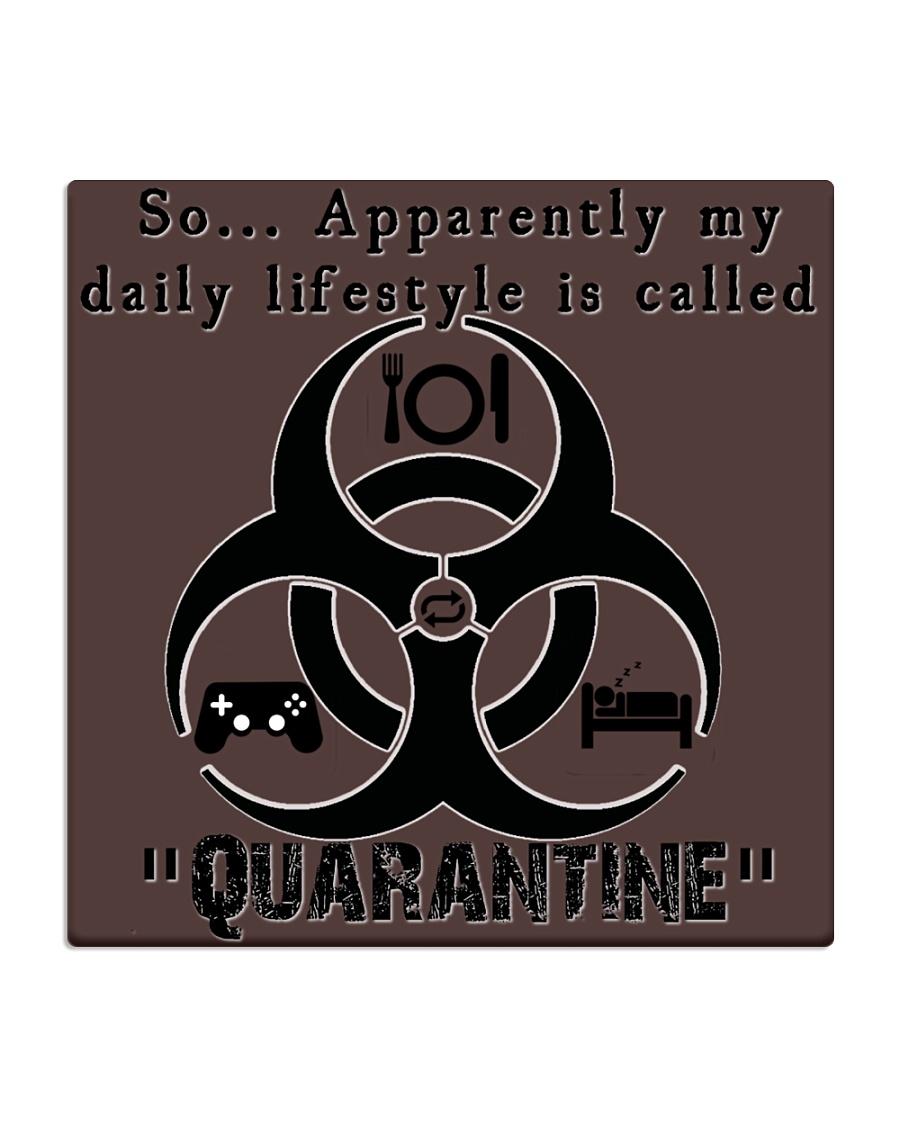 Daily Quarantine Lifestyle Square Coaster  Square Coaster