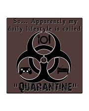 Daily Quarantine Lifestyle Square Coaster  Square Coaster front