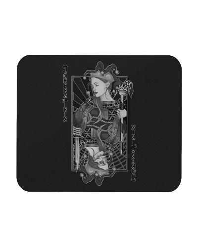 Jokerz Trix Card Black and White Mousepad