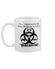 Daily Quarantine Lifestyle Mug  Mug back