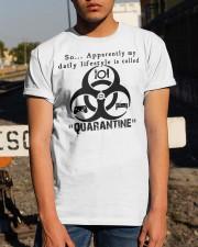 Daily Quarantine Lifestyle Classic T-Shirt Classic T-Shirt apparel-classic-tshirt-lifestyle-29
