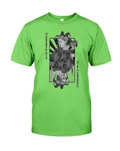 Jokerz Trix Card Black and White Classic T-Shirt