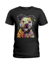 pit bulls they will steal your heart Ladies T-Shirt thumbnail
