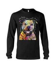 pit bulls they will steal your heart Long Sleeve Tee thumbnail