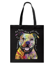 pit bulls they will steal your heart Tote Bag thumbnail