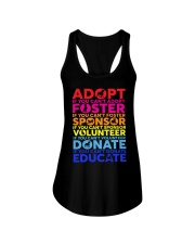 adopt foster sponsor volunteer  Ladies Flowy Tank tile