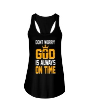 dont worry god is always on time Ladies Flowy Tank thumbnail