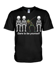 Dare To Be Yourself V-Neck T-Shirt front