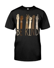 Be Kind SignLanguage Classic T-Shirt front