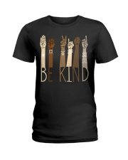 Be Kind SignLanguage Ladies T-Shirt tile