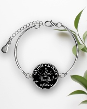 To My Daughter Neclace - Mother And Daughter Metallic Circle Bracelet aos-bracelet-metal-front-lifestyle-4