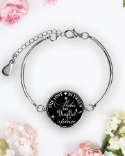 To My Daughter Neclace - Mother And Daughter Metallic Circle Bracelet aos-bracelet-metal-front-lifestyle-6