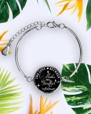To My Daughter Neclace - Mother And Daughter Metallic Circle Bracelet aos-bracelet-metal-front-lifestyle-7