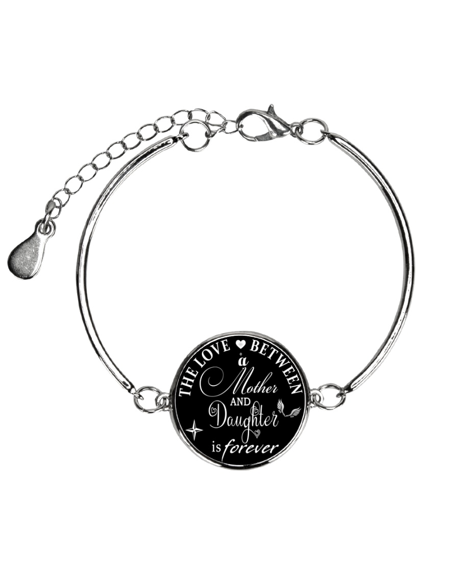 To My Daughter Neclace - Mother And Daughter Metallic Circle Bracelet