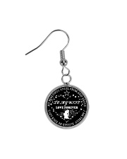 To My Wife Necklace Husband And Wife Circle Earrings thumbnail