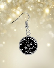 To My Daughter Necklace - Father And Daughter Circle Earrings aos-earring-circle-front-lifestyle-3