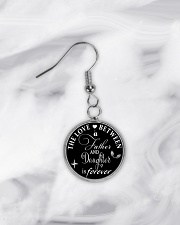 To My Daughter Necklace - Father And Daughter Circle Earrings aos-earring-circle-front-lifestyle-5