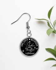 To My Daughter Necklace - Father And Daughter Circle Earrings aos-earring-circle-front-lifestyle-7