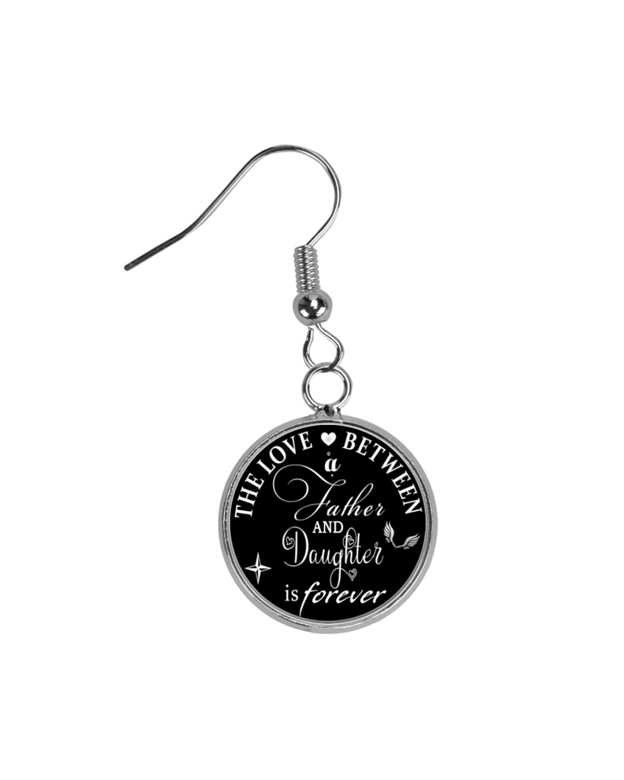 To My Daughter Necklace - Father And Daughter Circle Earrings