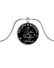 To My Daughter Necklace - Father And Daughter Metallic Circle Necklace thumbnail
