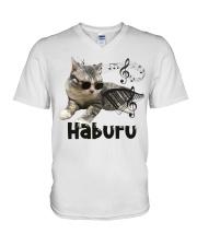 Haburu Meowssage V-Neck T-Shirt thumbnail