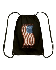 AMERICA Every Day is Flag Day Drawstring Bag thumbnail