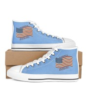 AMERICA Every Day is Flag Day Men's High Top White Shoes thumbnail