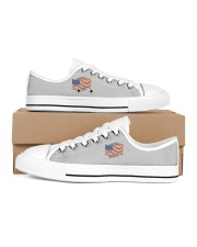 AMERICA Every Day is Flag Day Women's Low Top White Shoes thumbnail